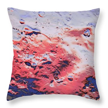 Red Horizon Throw Pillow