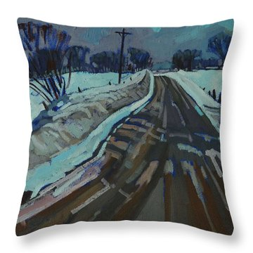 Red Horse Road Throw Pillow