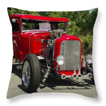 Red Hot Ford Throw Pillow by James C Thomas
