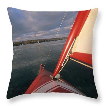 Red Hot Ride - Lake Geneva Wisconsin Throw Pillow