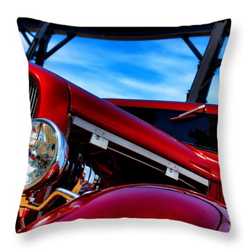 Red Hot Rod Throw Pillow by Olivier Le Queinec