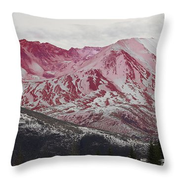 Red Hot St Helen Throw Pillow