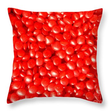 Red Hots Throw Pillow by Myrna Bradshaw