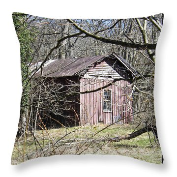 Throw Pillow featuring the photograph Red House by Nick Kirby