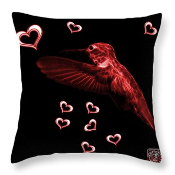 Red Hummingbird - 2055 F M Throw Pillow