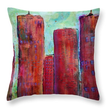 Red In The City Throw Pillow
