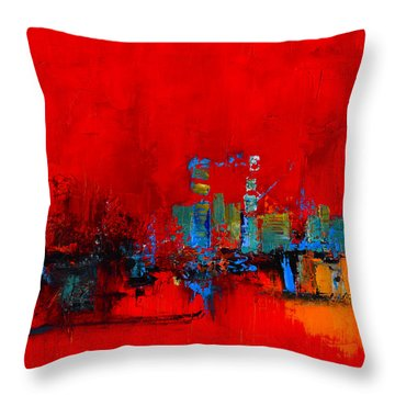 Red Inspiration Throw Pillow by Elise Palmigiani