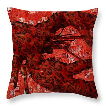 Red Lobster 1 Throw Pillow