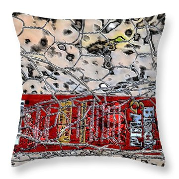 Throw Pillow featuring the photograph Red Label by Nadalyn Larsen