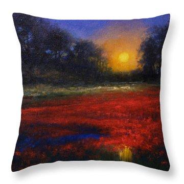 Red Lagoon Throw Pillow