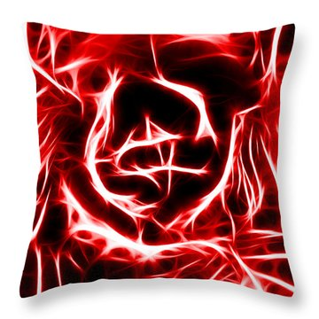 Red Lettuce Throw Pillow