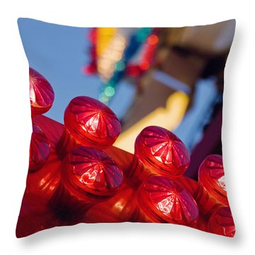 Red Lights At The County Fair Throw Pillow
