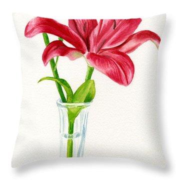 Watercolour Garden Throw Pillows