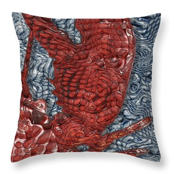 Red Lobster Throw Pillow by Jack Zulli