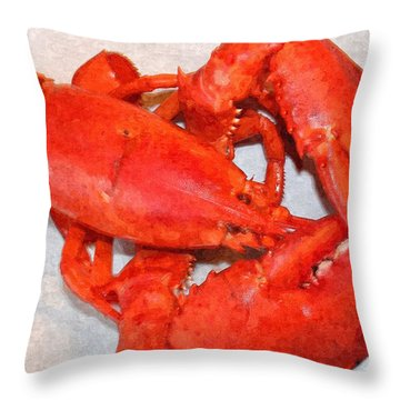 Red Lobster Portrait Throw Pillow