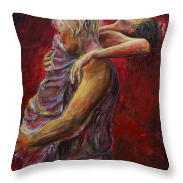 Red Lovers 03 Throw Pillow