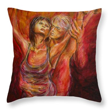 Red Lovers Throw Pillow