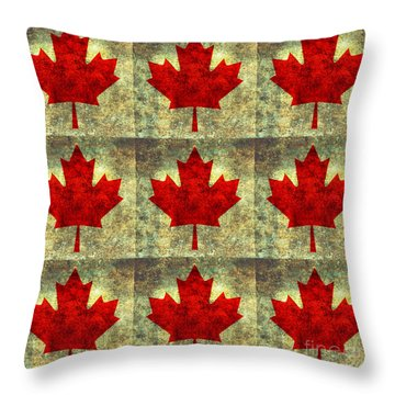 Red Maple Leaf Throw Pillow