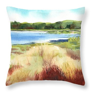 Red Marsh Throw Pillow