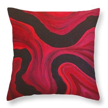 Red Throw Pillow by Megan Washington