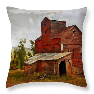 Red Mill Montana Throw Pillow by Marty Koch