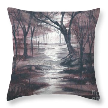 Red Mist  Throw Pillow