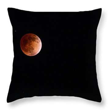 Red Moon And Spica By Denise Dube Throw Pillow