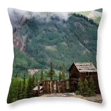 Red Mountain Remnants Throw Pillow