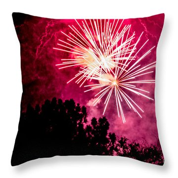 Throw Pillow featuring the photograph Red Night by Suzanne Luft