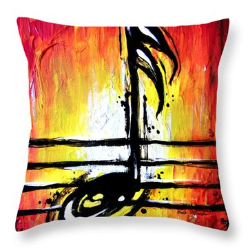 Red Note  Throw Pillow