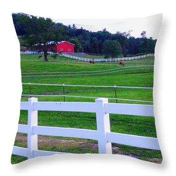 Red On The Hill Throw Pillow