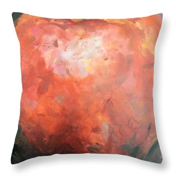 Red Orange Throw Pillow