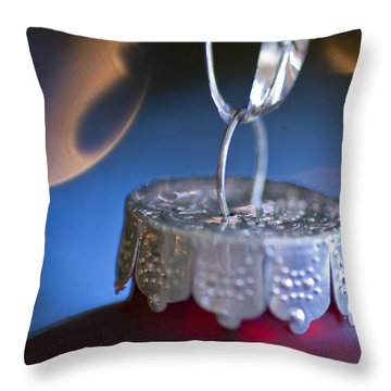 Red Ornament Throw Pillow by Birgit Tyrrell