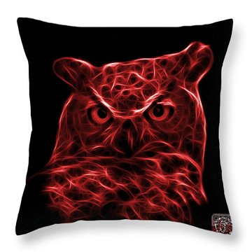 Red Owl 4436 - F M Throw Pillow by James Ahn