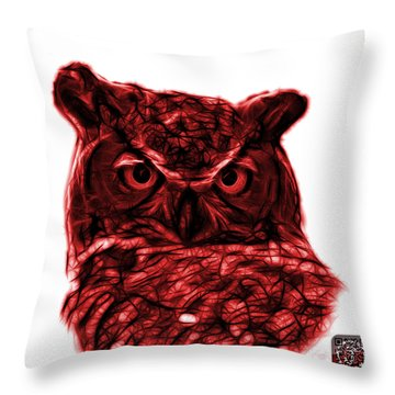 Red Owl 4436 - F S M Throw Pillow