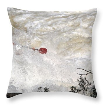 Throw Pillow featuring the photograph Red Paddle by Carol Lynn Coronios