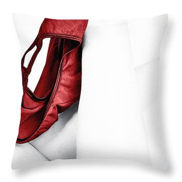 Red Panties Throw Pillow by Lawrence Burry