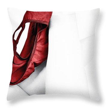 Red Panties Throw Pillow