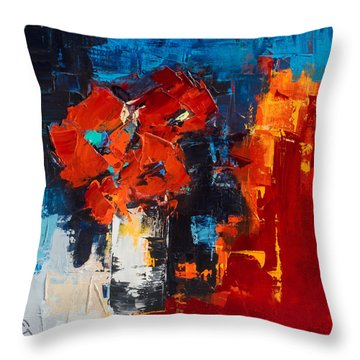 Red Passion Throw Pillow by Elise Palmigiani