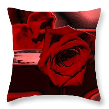 Red Passion. Rose Throw Pillow
