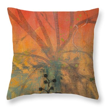 Throw Pillow featuring the painting Red Peace Bird by Robin Maria Pedrero