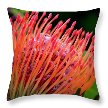 Red Pin Cushion Throw Pillow by Scott Lyons