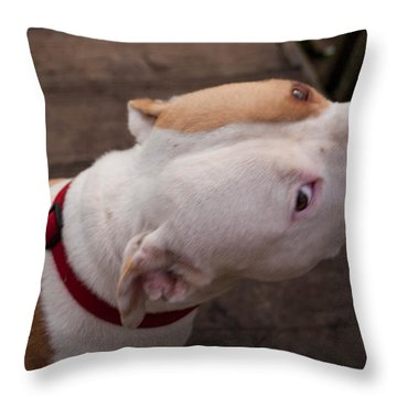 Red Pit 3 Throw Pillow