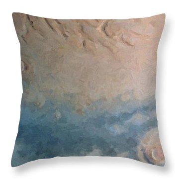 Red Planet 1 Throw Pillow by David Hansen
