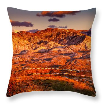 Red Planet Throw Pillow by Mark Myhaver