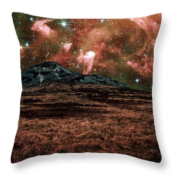 Red Planet Throw Pillow by Semmick Photo