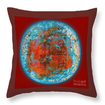 Throw Pillow featuring the digital art Red Plate by Gabrielle Schertz
