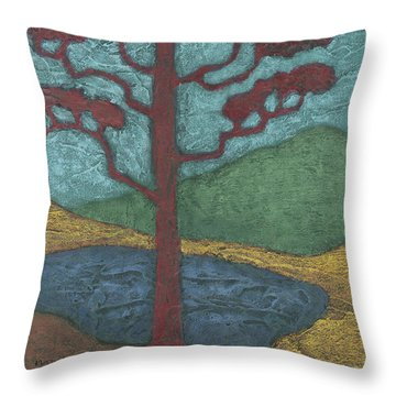 Red Ponderosa Throw Pillow
