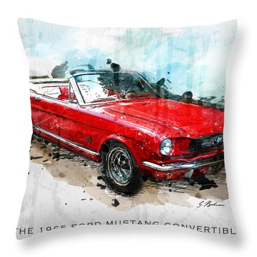 The Red Pony 2 Throw Pillow