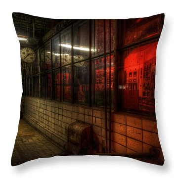 Red Pressure Throw Pillow